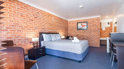Commercial photography of accommodation studio room